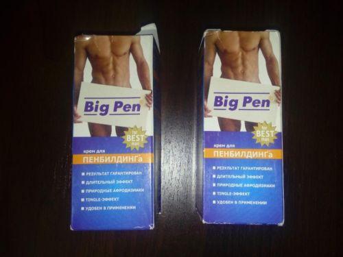 Упаковка крема Big pen