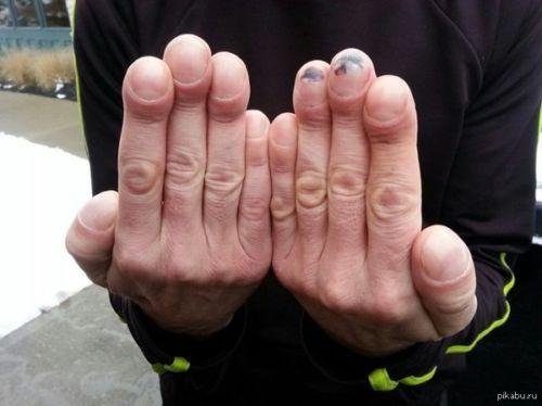 Размер члена по ногтям
