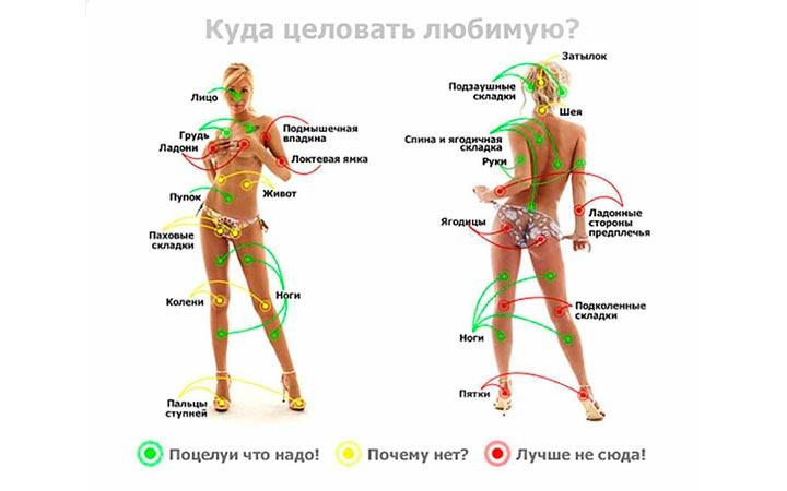 Женские эрогенные зоны