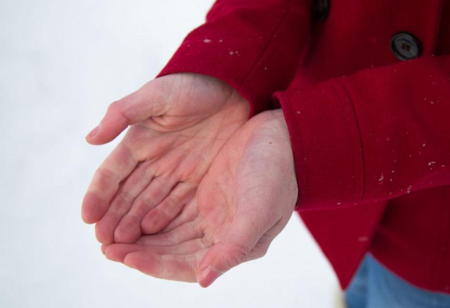 Замерзшие руки