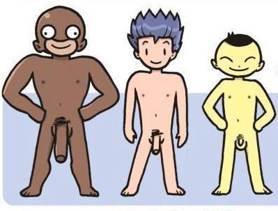 Члены разных рас