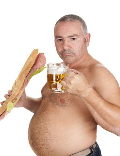 Лишний вес из-за пива